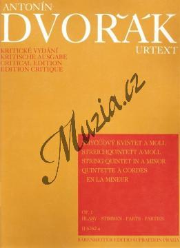 Dvořák Antonín | Smyčcový kvintet a moll op. 1 | Set partů - Noty pro smyčcový kvintet - H6782a.jpg