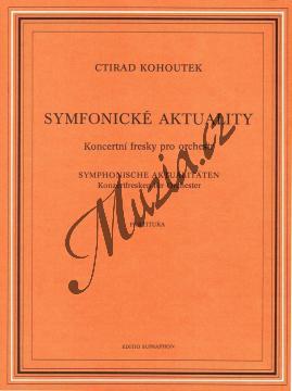 Kohoutek Ctirad   Symfonické aktuality  (Koncertní fresky pro orchestr)   Partitura - Noty pro orchestr - H6936.jpg