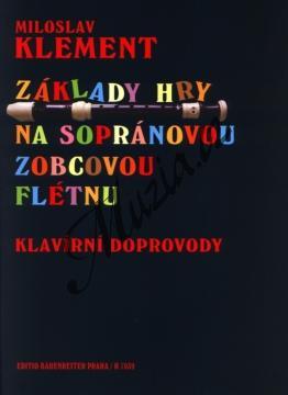 Klement Miloslav | Základy hry na sopránovou zobcovou flétnu - klavírní doprovody | Noty na zobcovou flétnu - H7039b.jpg