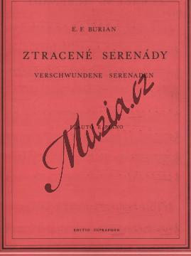 Burian Emil František | Ztracené serenády | Noty na příčnou flétnu - H7055.jpg