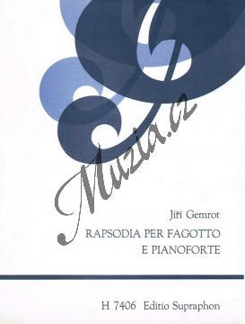 Gemrot Jiří | Rapsodia per fagotto e pianoforte | Noty na fagot - H7406.jpg
