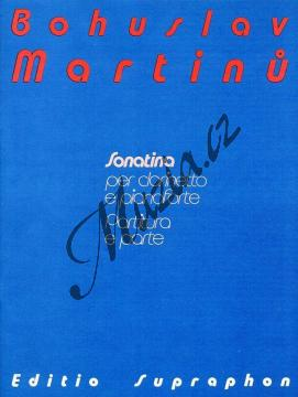 Martinů Bohuslav | Sonatina pro klarinet a klavír | Partitura a party - Noty na klarinet - H7479.jpg