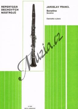 Francl Jaroslav | Sonatina pro klarinet a klavír | Noty na klarinet - H7482.jpg