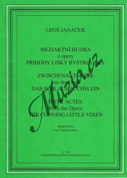 Janáček Leoš | Meziaktní hudba z opery Liška Bystrouška - Studijní partitura | Noty pro orchestr - H7505.jpg