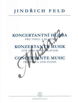 Feld Jindřich | Koncertantní hudba pro violu a klavír | Partitura a party - Noty na violu - H7528.jpg