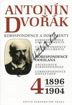 Kuna Milan a kol.   Antonín Dvořák - Korespondence a dokumenty 4   Kniha - H7747.jpg