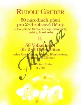 Gruber Rudolf | 50 národních písní pro 2-3 zobcové flétny, 2. díl | Partitura - Noty na zobcovou flétnu - H7751.jpg