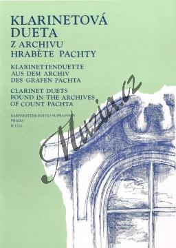 Album | Klarinetová dueta z archivu hraběte Pachty | Noty na klarinet - H7752.jpg
