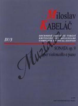 Kabeláč Miloslav | Sonáta pro violoncello a klavír op. 9 | Noty na violoncello - H7793.jpg
