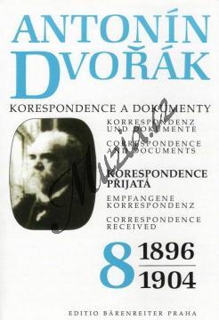 Kuna Milan a kol. | Antonín Dvořák - Korespondence a dokumenty 8 | Kniha - H7794.jpg