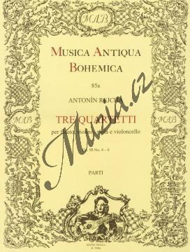 Rejcha Antonín | Tre quartetti per flauto, violino, viola e violoncello op. 98, č. 4-6 | Partitura - Noty-komorní hudba - H7800.jpg