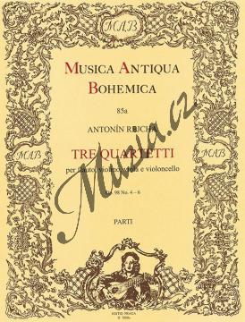 Rejcha Antonín | Tre quartetti op. 98, č. 4-6 (e moll, A dur, D dur) | Set partů - Noty-komorní hudba - H7800a.jpg