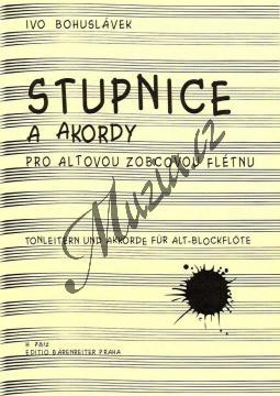 Bohuslávek Ivo | Stupnice a akordy pro altovou zobcovou flétnu | Noty na zobcovou flétnu - H7812.jpg