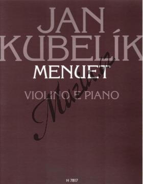 Kubelík Jan | Menuet | Partitura a party - Noty na housle - H7817.jpg