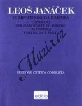 Janáček Leoš   Capriccio pro klavír levou rukou a soubor dechových nástrojů   Partitura a party - Noty-komorní hudba - H7826.jpg