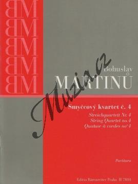 Martinů Bohuslav | Smyčcový kvartet č. 4 | Studijní partitura - Noty pro smyčcový kvartet - H7844.jpg