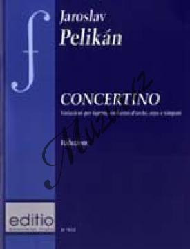 Pelikán Jaroslav | Concertino (Variazioni per fagotto, orchestra d´archi, arpa e timpani) | Klavírní výtah - Noty na fagot - H7854.jpg