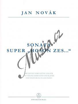 Novák Jan | Sonata super  Hoson zes . . .  fidibus acutis aut tibia obliqua et clavibus MCMLXXXI | Noty na housle - H7855.jpg