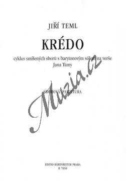 Teml Jiří | Krédo | Sborová partitura - Noty pro sbor - H7858.jpg