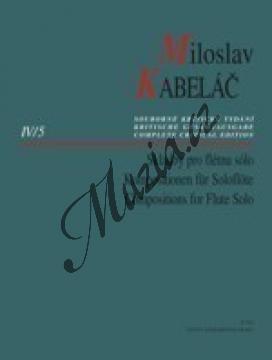 Kabeláč Miloslav | Skladby pro flétnu sólo: Malá suita (Partita piccola) op. 13, Improvizace op. 29b | Noty na příčnou flétnu - H7910.jpg