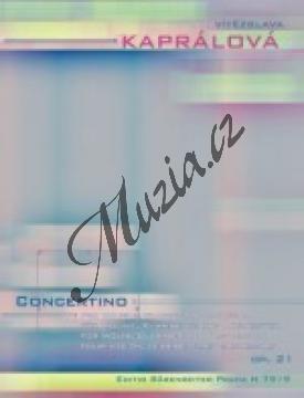 Kaprálová Vítězslava | Concertino pro housle, klarinet a orchestr | Partitura - Noty-komorní hudba - Autorizovaná kopie! - H7919.jpg
