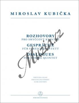 Kubička Miroslav | Rozhovory pro smyčcový kvintet | Partitura a party - Noty pro smyčcový kvintet - H7923.jpg