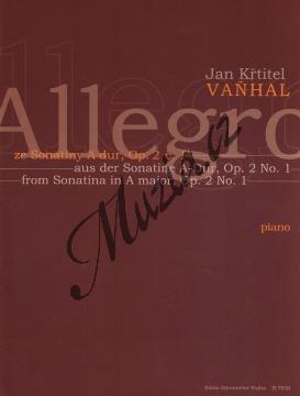 Vaňhal Jan Křtitel   Allegro   Noty na klavír - H7926.jpg