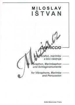 Ištvan Miloslav | Capriccio pro vibrafon, marimbu a bicí nástroje | Partitura a party - Noty - H7932.jpg