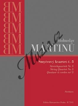 Martinů Bohuslav | Smyčcový kvartet č. 5 | Studijní partitura - Noty pro smyčcový kvartet - H7941.jpg