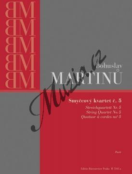 Martinů Bohuslav   Smyčcový kvartet č. 5   Set partů - Noty pro smyčcový kvartet - H7941a.jpg