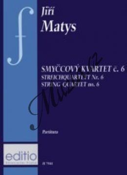 Matys Jiří | Smyčcový kvartet č. 6 | Kapesní partitura - Noty pro smyčcový kvartet - H7944.jpg