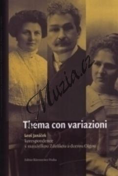 Přibáňová Svatava | Thema con variazioni - Leoš Janáček - korespondence s manželkou Zdeňkou a dcerou Olgou | Kniha - H7977.jpg