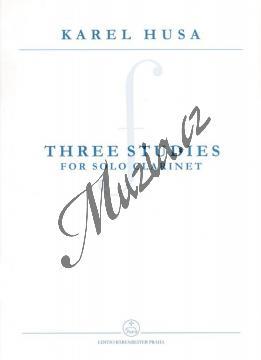 Husa Karel | Three Studies for Solo Clarinet | Noty na klarinet - H7992.jpg