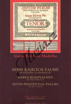 Madelka Simon Bar Jona | Sedm kajících žalmů (pětihlasem vyzdobených) | Sborová partitura - Noty pro sbor - H7999.jpg