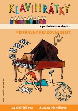 Oplištilová Iva, Hančilová Zuzana | Klavihrátky 0 - přípravný pracovní sešit - S pastelkami u klavíru | Noty na klavír - H8002.jpg