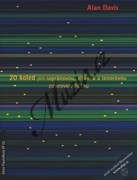 Davis Alan | 20 koled pro sopránovou, altovou a tenorovou zobcovou flétnu | Partitura - Noty na zobcovou flétnu - H8015.jpg