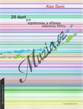 Davis Alan | 20 duet pro sopránovou a altovou zobcovou flétnu | Noty na zobcovou flétnu - H8016.jpg