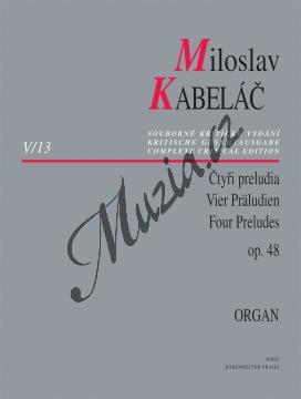 Kabeláč Miloslav | Čtyři preludia op. 48 pro varhany | Noty na varhany - H8022.jpg