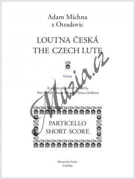 Michna Adam z Otradovic | Loutna česká | Vokální partitura - Noty pro sólový zpěv - H8040a.jpg