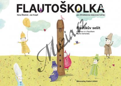 Štastná Hana, Kvapil Jan | Flautoškolka - Flautíkův sešit pro děti | Noty - H8043.jpg