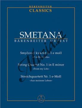 Smetana Bedřich | Smyčcový kvartet č. 1 e moll  Z mého života | Studijní partitura - Noty pro smyčcový kvartet - TP516.jpg