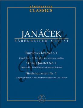 Janáček Leoš | Smyčcový kvartet č. 1 (Z podnětu L. N. Tolstého  Kreutzerovy sonáty ) | Studijní partitura - Noty pro smyčcový kvartet - TP520.jpg