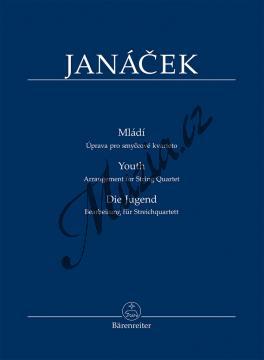 Janáček Leoš | Mládí - úprava pro smyčcové kvarteto | Studijní partitura - Noty pro smyčcový kvartet - TP521.jpg
