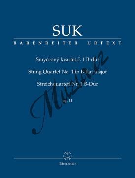 Suk Josef | Smyčcový kvartet č. 1 B-dur op. 11 | Studijní partitura - Noty pro smyčcový kvartet - TP530.jpg