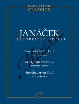 Janáček Leoš | Smyčcový kvartet č. 2 - Listy důvěrné | Studijní partitura - Noty pro smyčcový kvartet - TP533.jpg