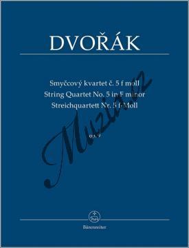 Dvořák Antonín | Smyčcový kvartet č. 5 f moll op. 9 | Studijní partitura - Noty pro smyčcový kvartet - TP535.jpg