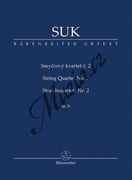 Suk Josef | Smyčcový kvartet č. 2 op. 31 | Studijní partitura - Noty pro smyčcový kvartet - TP536.jpg