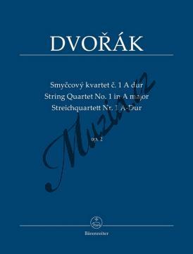 Dvořák Antonín | Smyčcový kvartet č. 1 A dur op. 2 | Studijní partitura - Noty pro smyčcový kvartet - TP539.jpg