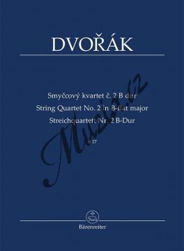 Dvořák Antonín | Smyčcový kvartet č. 2 B dur (B 17) | Studijní partitura - Noty pro smyčcový kvartet - TP540.jpg