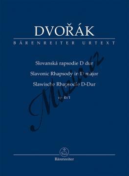 Dvořák Antonín | Slovanská rapsodie D dur op. 45/1 | Studijní partitura - Noty pro orchestr - TP541.jpg